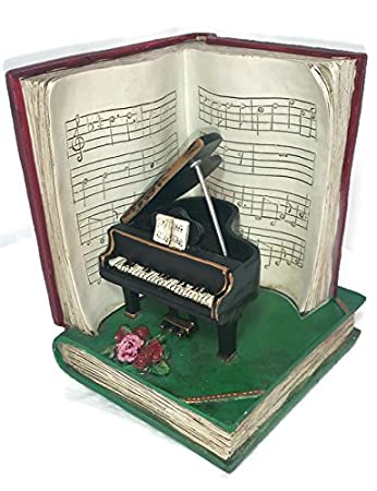 George hardy musical instrument violin piano notes bookends new ebay - Piano bookends ...
