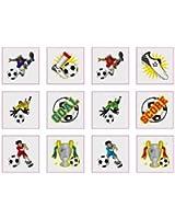 Lot de 24 tatouages football
