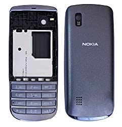 Nokia Asha 300 Replacement Body Housing Front & Back Original Panel - Grey