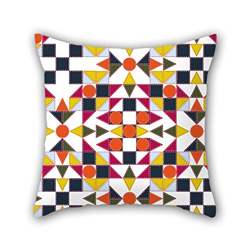 NICEPLW 16 X 16 Inches / 40 By 40 Cm Geometry Pillow Covers ,each Side Ornament And Gift To Her,office,kitchen,car