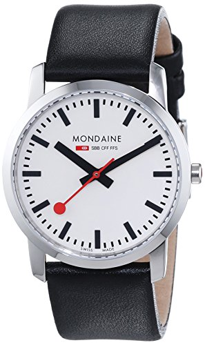 Mondaine Simply Elegant Ladys Watch black/silver A400.30351.11SBB