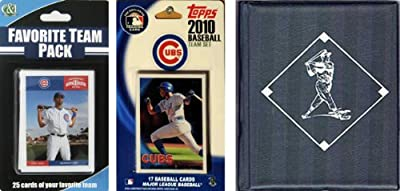 MLB Chicago Cubs Licensed 2010 Topps Team Set and Favorite Player Trading Cards Plus Storage Album