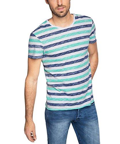 edc by ESPRIT Herren T-Shirt gestreift-Slim Fit,