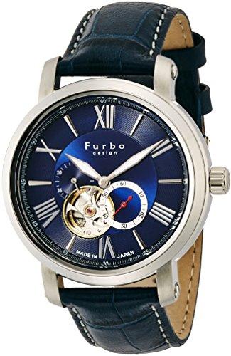 [フルボデザイン]Furbo design 腕時計 自動巻き F5026 日本製 ネイビー ネイビー革 F5026SBLBL メンズ