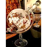 Wine Savant Whisky & Wine Sail Ship Etched Globe Spirits Decanter