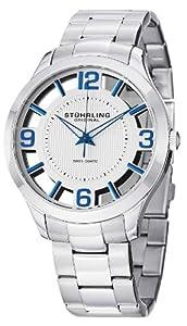 Stuhrling Original Men's 754.01 Winchester Court Swiss Quartz Stainless Steel Transparent Watch