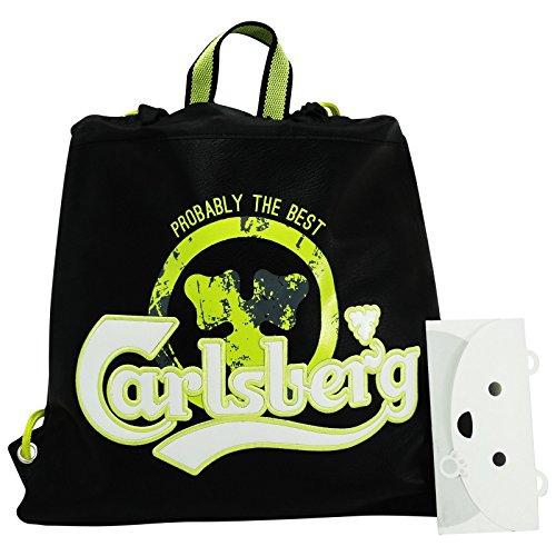 carlsberg-mochila-bolso-escolar-bolsa-cuerdas-negro