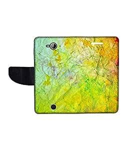 KolorEdge Printed Flip Cover For Acer Liquid Z530 Multicolor - (1478-50KeMLogo12026AcerZ530)
