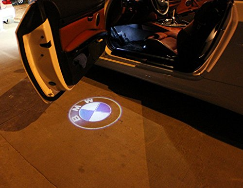 Karono 2pcs LED Car Door BMW Logo LED Laser Emblem Shadow Welcome Projector Lamp Light for BMW (Bmw E36 Door Handle compare prices)