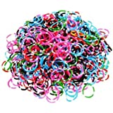 Ateam 600 Pieces Various Color Selection Loom Bandz with 25 Clips
