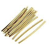 Timiy 24Pcs Brass 2.4Inch/60mm Frets for Strat Acoustic Classical Guitar Fingerboard Fret Wire Gold Tone