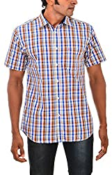 Indipulse Men's Casual Shirt (IF11600616CHS, Multi-Coloured, XXL)