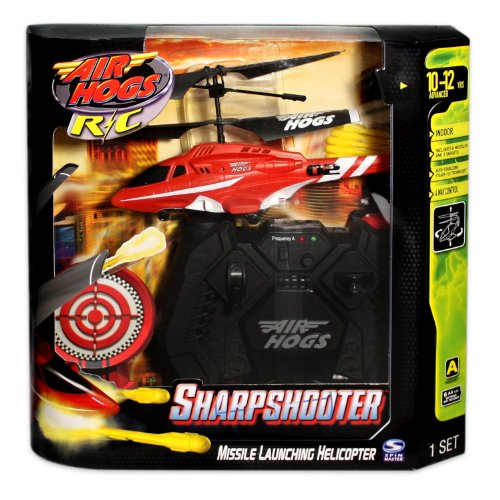 Air Hogs Red/White Sharp Shooter Ch A (Sharp Shooter Helicopter compare prices)