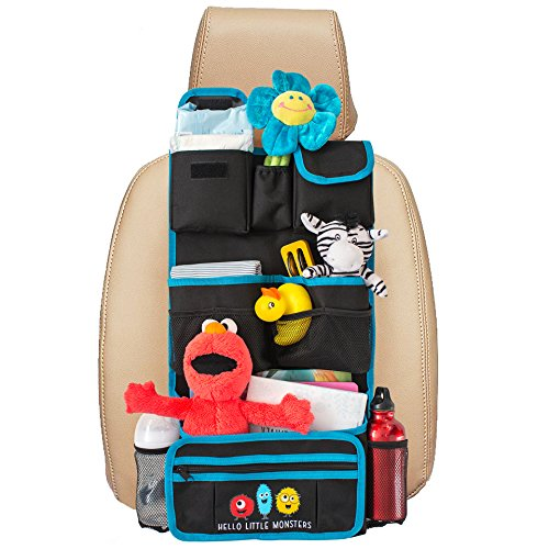 buy Backseat Car Organizer - Kids Toy Car Storage - Travel Accessories for Baby - Child Car Seat Protector - Perfect for Baby Shower Gift - Must Have Interior Car Accessories for sale