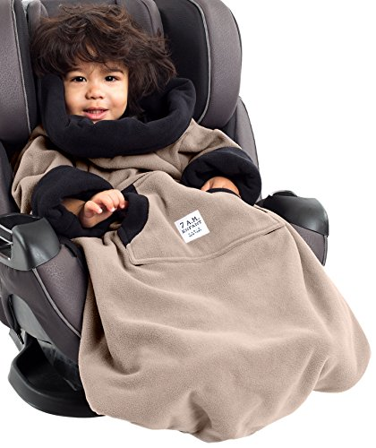 7AM Enfant Easy Cover Bunting Bag Fleece, Taupe, Small