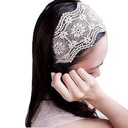 759 Shop 1pc Lady Women Girls Elegent Lace Elastic Hair Head Band Hoop Accessory Tie Hairbands Headbands Turban