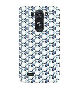 Fuson Premium Blue Floral Pattern Printed Hard Plastic Back Case Cover for LG G3 Beat