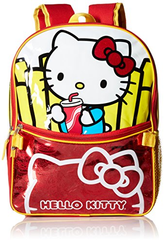 Hello-Kitty-Girls-Burger-and-Fries-16-Inch-Backpack-with-Lunch-Kit
