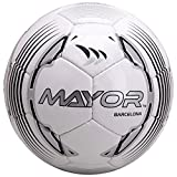 Mayor World Barcelona Football, Size 5 (Silver/Black)