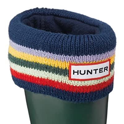 Hunter Kids Striped Cuff Welly Socks - Striped