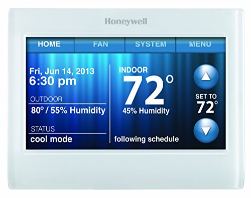 Honeywell TH9320WF5003 Wi-Fi 9000 Color Touch Screen Programmable Thermostat, 3.5 x 4.5- Inch, White (Honeywell Total Connect Comfort compare prices)