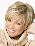 Magic Wig World Classical Trendy Short Cropped Blonde&Brown Ombre Synthenic Wig Hairstyle