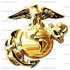 1/4 ~ Military Marines Emblem Birthday ~ Edible Image Cake/Cupcake Topper!!!