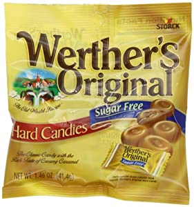Werthers Original Sugar Free Hard Candy, 1.46-Ounce (Pack of 12)