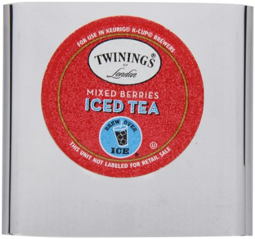 Twinings Of London K-Cup Portion Pack For Keurig K-Cup Brewers Iced Tea, Mixed Berries, 72 Count (Pack Of 6)