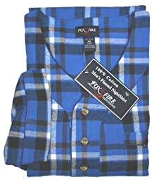 FOXFIRE Flannel Night Shirt #1096 Assorted Plaids, 3XT/4XT