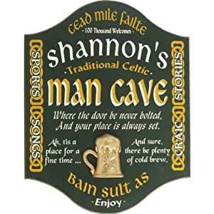 Traditional Celtic Personalized Man Cave Sign