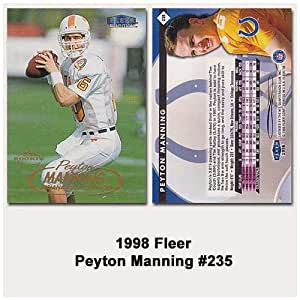 Fleer Indianapolis Colts Peyton Manning 1998 Rookie Card