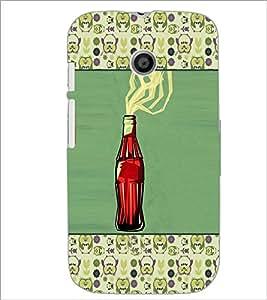PrintDhaba Bottle D-6036 Back Case Cover for MOTOROLA MOTO E (Multi-Coloured)