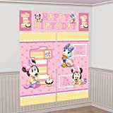 Disney Minnie Mouse 1st Birthday Scene Setter Wall Decoration Set Party Accessory