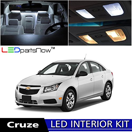 LEDpartsNow Chevy Cruze 2011-2014 Xenon White Premium LED Interior Lights Package Kit (7 Pieces) + Install Tool (Chevy Cruze White compare prices)