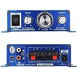 VicTec Car Mini Hi-Fi Audio Speaker Amplifier Bass Vol Treble With In-Car DC Powered Adapters