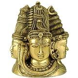 "Redbag Satyam Shivam Sundaram - Brass Statue ( 11.50""H X 10""W X 4.25""D )"