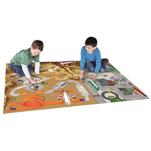 Hotwheels car play mat. Large mat for kids to race their toy cars that rolls up for easy storage. (Kids Car Foam Mat compare prices)
