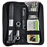 TRIXES Bike Tool Kit With Puncture Repair And Hand Pump 16 Piece Set Cyclist Maintenance Travel Set