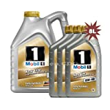 Mobil 1 0W-40 New Life Fully Synthetic Engine Oil 149015 1x5L+3x1L = 8L