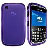 CellBig Gorgeous Purple Matt Gel Case Cover Pouch Holster Mask Wallet For Blackberry Curve 8520 9300