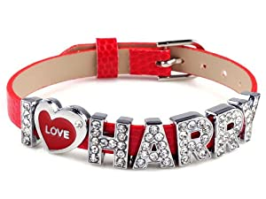 I Love Harry One Direction Id Member Bracelet Wristband Wrist Band Link Chain Fashion Jewelry from Yiwu City Yinuo E-Commercial Business Co.,Ltd
