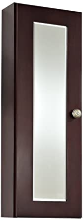 American Imaginations AI-13-336 Transitional Cherry Wood-Veneer Medicine Cabinet, 12-Inch x 36-Inch, Coffee Finish