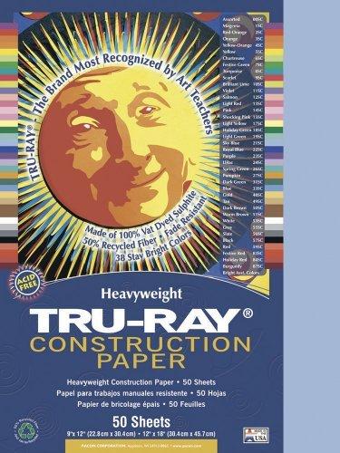 Tru-Ray Construction Paper, 9X12, Sky Blue, 50 Sheets Color: Sky Blue Model: 103016