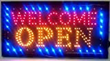 "LED Neon Light Welcome Open Sign With Animation On/off and Power On/Off two Switchs for Business By ""E Onsale"" J08"