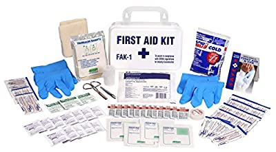 OSHA & ANSI Emergency First Aid Kits With Cabinets by Trademark Supplies