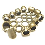 Scarf Rings Bronze Rings 10 Designs 20pcs Fancy Scarf Rings Pendant Jewelry Accessory (Tamaño: fit medium to heavy scarves)