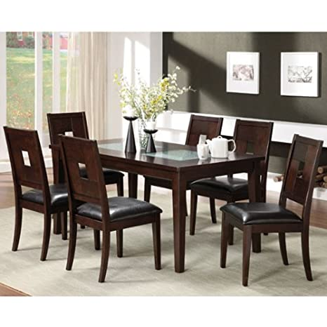 Primrose Dark Walnut Finish 7-Piece Dinette Set