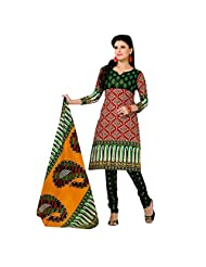 Siddhi Unstitched Cotton Printed Salwar Suit Dupatta Material ( SSH-201411061110AA )