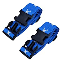 Mudder Adjustable Luggage Strap Suitcase Belt with Travel Belt Tags for Outdoor Travelling, Blue